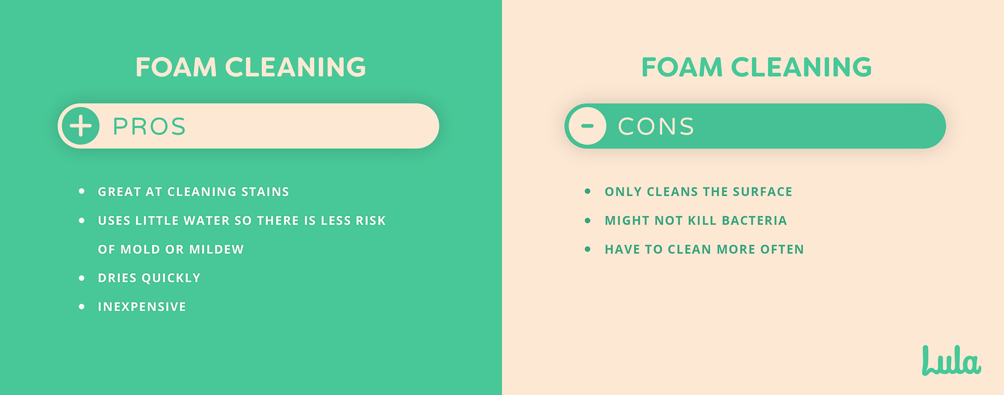 pros and cons of foam carpet cleaning