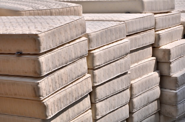 stacks of mattresses