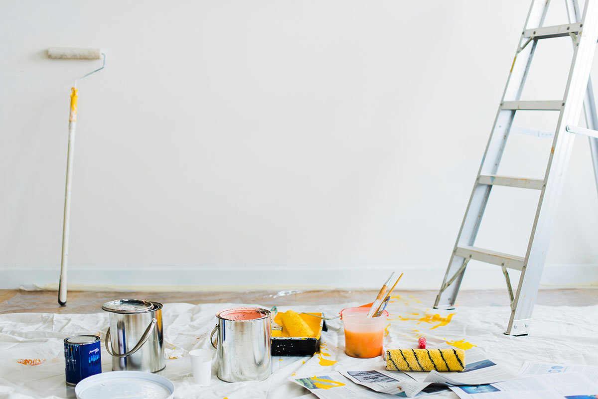 painting a white wall