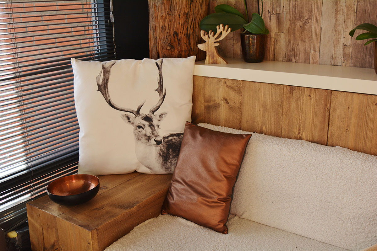 throw pillow with a deer image