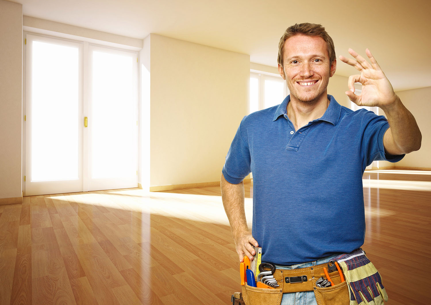 handyman in a blue shirt