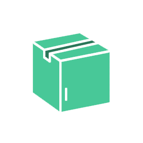 moving box vector image