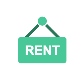 rental sign vector image
