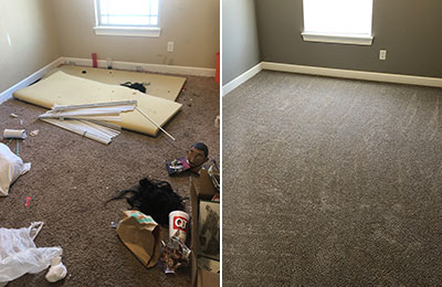 room clean out before and after